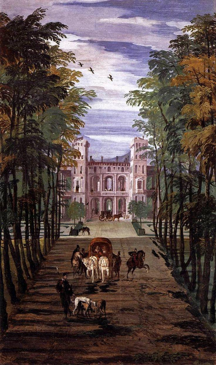 Paolo Veronese-Affresco(dettaglio),1560-1561,Villa Barbaro, Maser (villa veneta, costruita da Andrea Palladio tra il 1554 e il 1560 per l'umanista Daniele Barbaro e per suo fratello Marcantonio Barbaro, ambasciatore della Repubblica di Venezia