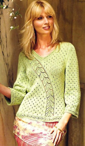 knitted sweater with chart