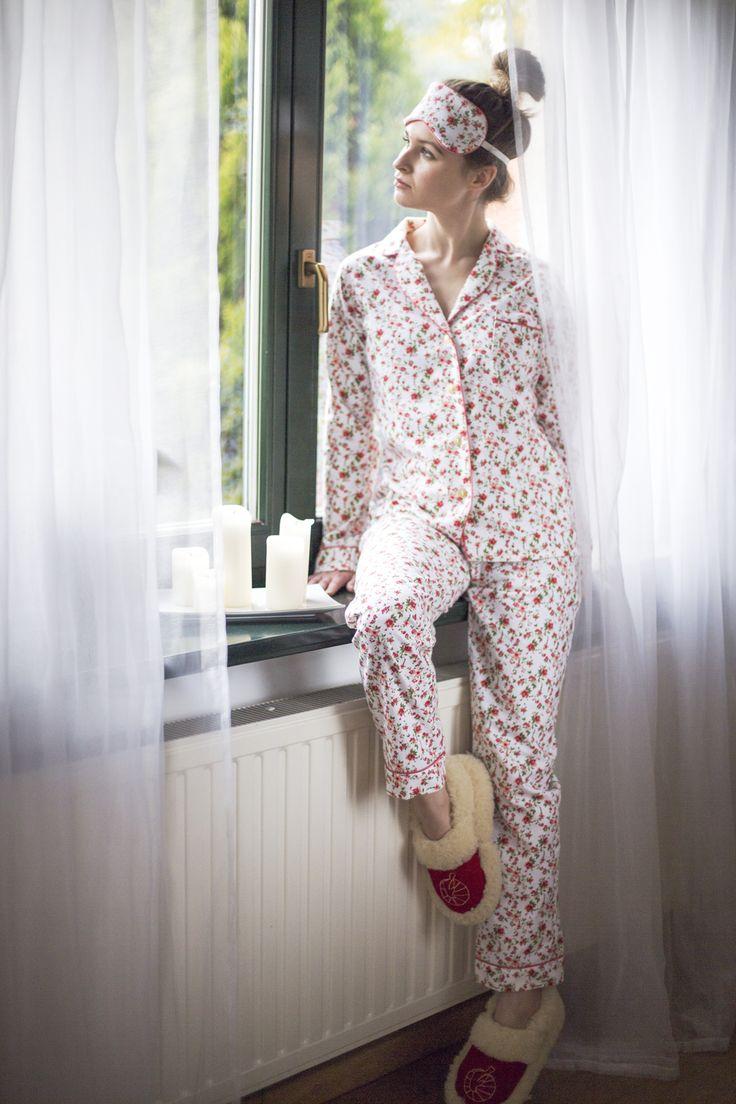 Piżama damska Laura Double Flowers | Lunaby
