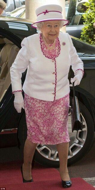 Queen Elizabeth II at Marlborough House. June 9 2016