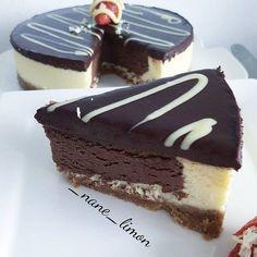 "193 Beğenme, 14 Yorum - Instagram'da zehra (@_nane_limon): ""Cikolatali cheesecake  Cheesecake..Tabani icin..2 paket yulafli biskuvi...125 gr tereyag ..…"""