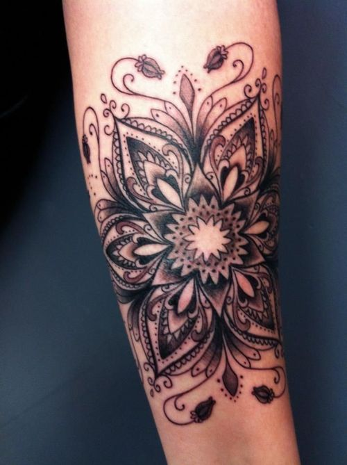 Beautiful flower tattoo