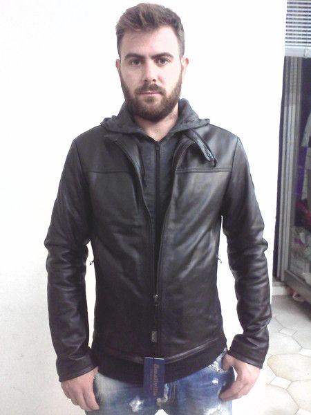 giubbino+vera+pelle+con+cappuccio++di+Smallville+su+DaWanda.com