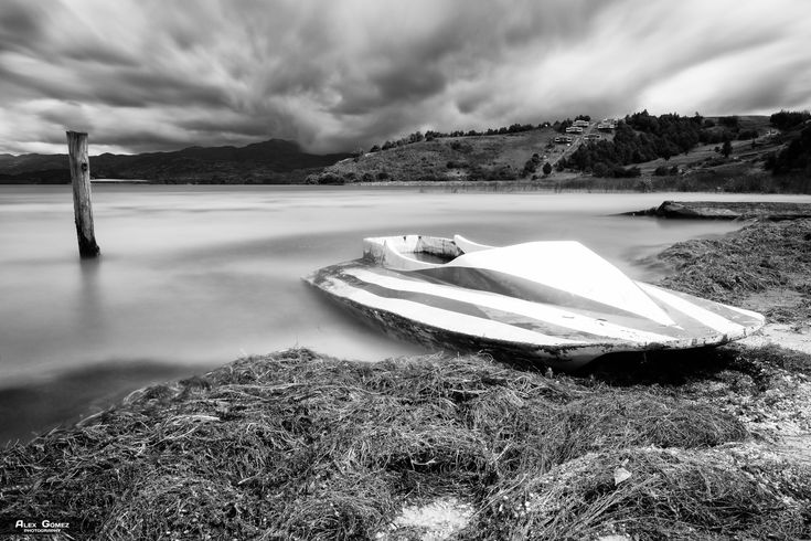 Damaged Jet Ski - Long exposure to an old Damaged Jet Ski in the Tota Lake, Boyaca - Colombia