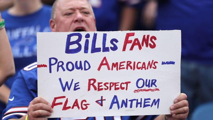 Bill's fans BOO Colin Kaepernick, chant 'USA' before he kneels