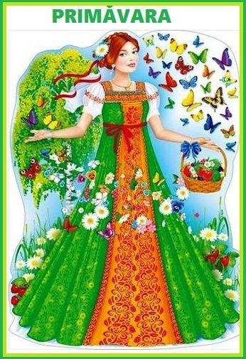Картинка девушки-весны для детей