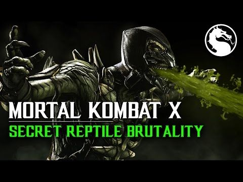 "MKX How to perform Reptile Secret Brutality ""Acid Bubble"""