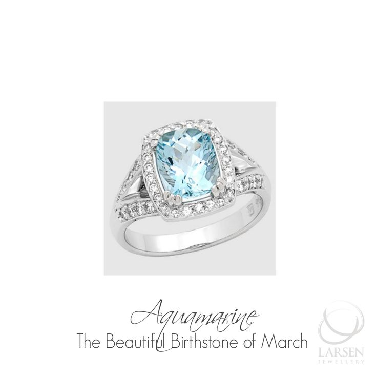 The Birthstone of March is blue so why not choose this stone and custom design a beautiful surprise birthday gift for your partner this March? www.larsenjewellery.com.au