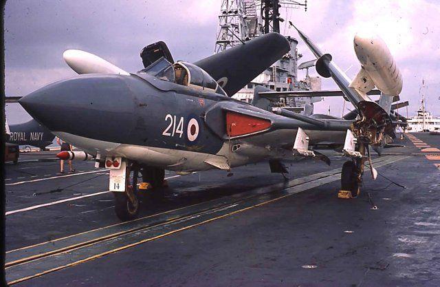 de Havilland Sea Vixen of 892Sqn aboard HMS Centaur 1964