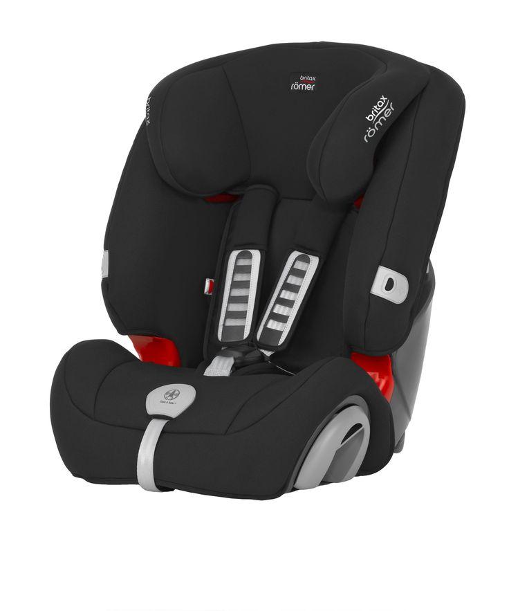 Britax Romer Evolva 1-2-3 Plus High Back Booster Car Seat with Harness - Cosmos Black