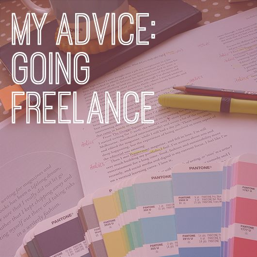 My advice: Going freelance by Lizzie Stafford for Creative Women's Circle
