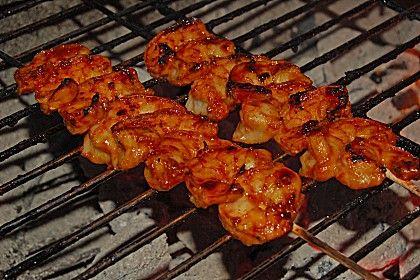 BBQ Garnelen in Honig - Senf - Sauce, ein gutes Rezept aus der Kategorie Fisch. Bewertungen: 60. Durchschnitt: Ø 4,4.