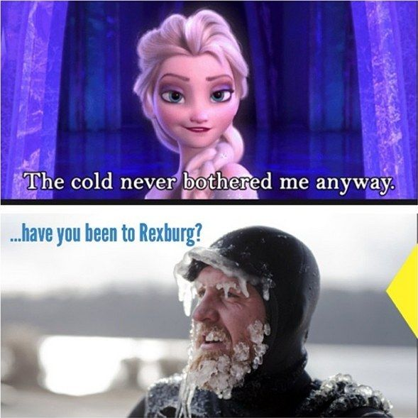 Everyone starts posting things about Frozen!