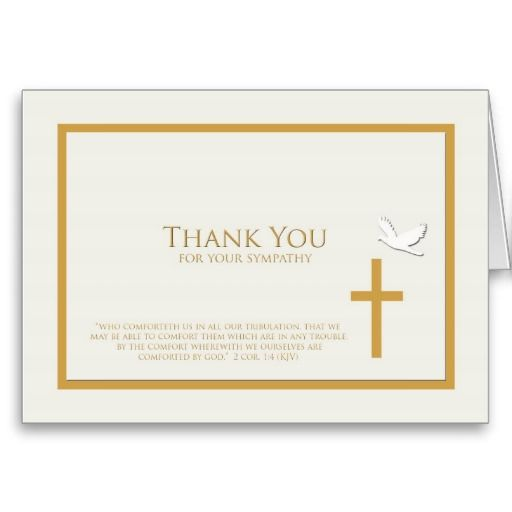 18 best Funeral Thank You Cards images on Pinterest Greeting - thank you note
