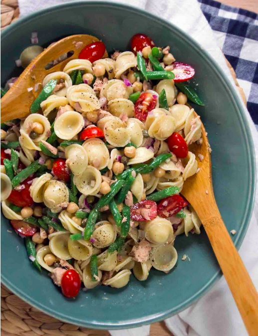 Chickpea, Tuna and Caper Orecchiette Pasta Salad | 23 Cool Things To Do With Canned Tuna