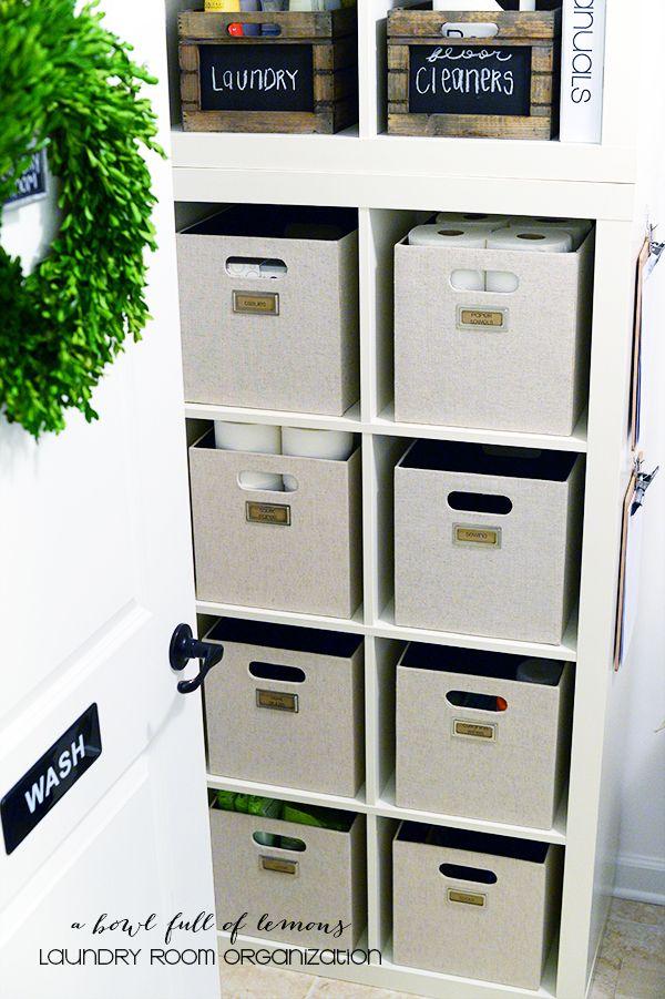 The most organized laundry room on Pinterest! via A Bowl Full of Lemons