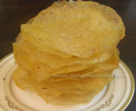 How to make Potato Papad at home