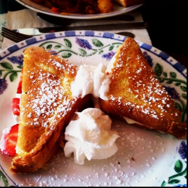 Strawberry banana stuffed French Toast | My Photography | Pinterest