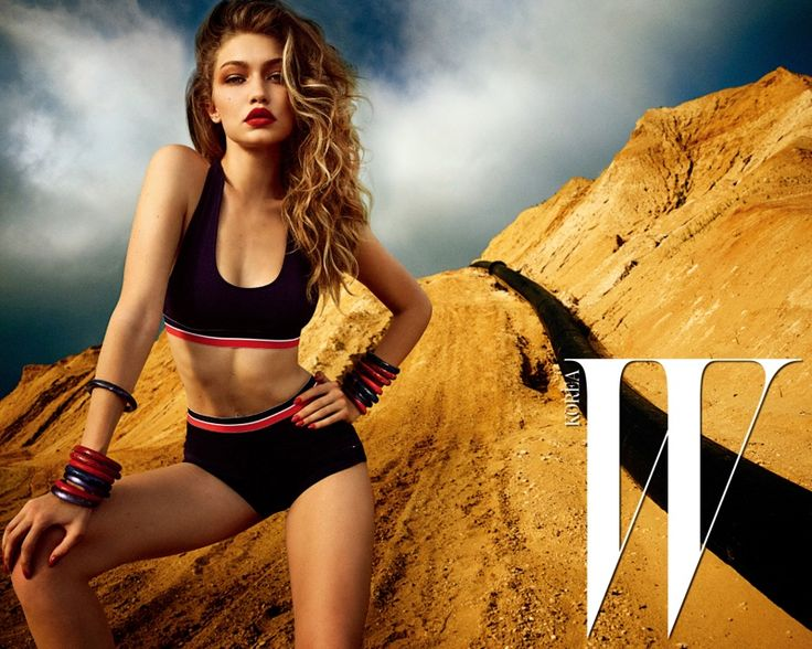Flaunting her figure, Gigi Hadid wears bra and briefs for W Magazine Korea December 2016 Issue