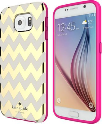 kate spade new york Flexible Hardshell Case for Samsung Galaxy S 6 - Chevron - Verizon Wireless