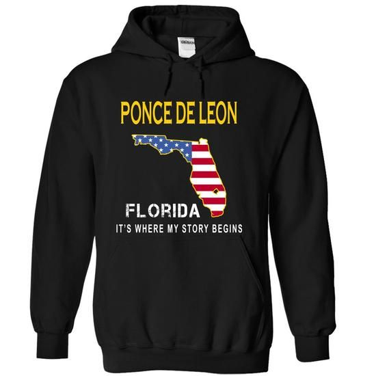 PONCE DE LEON - Its Where My Story Begins - #tshirt recycle #sweater nails. ORDER NOW => https://www.sunfrog.com/States/PONCE-DE-LEON--Its-Where-My-Story-Begins-qnagj-Black-15441381-Hoodie.html?68278