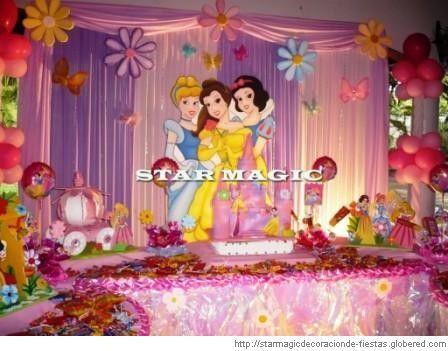 Decoracion de fiestas infantiles princesas party for Decoracion de princesas