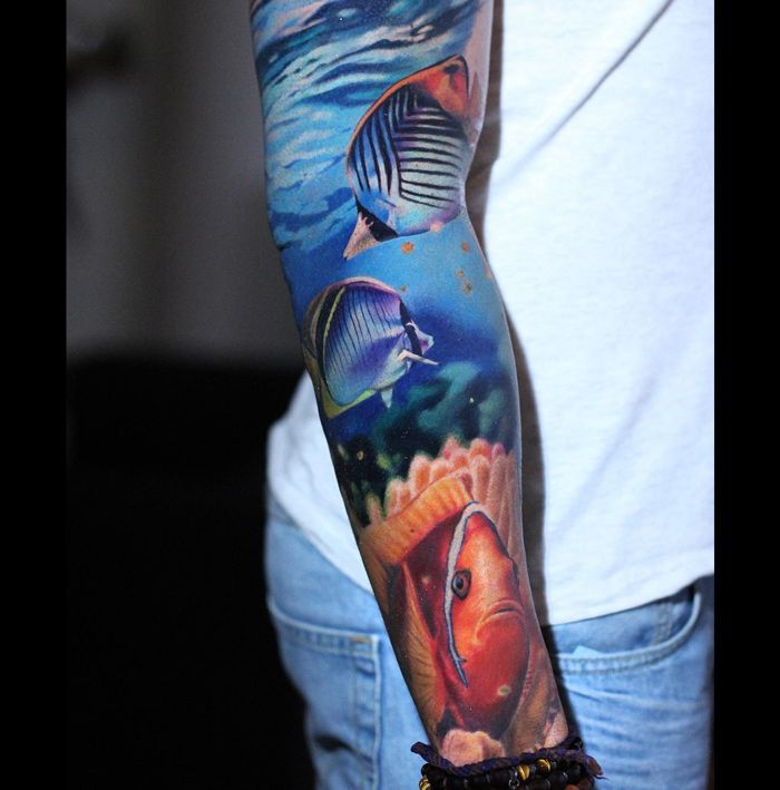 25 best ideas about underwater tattoo on pinterest for Tropical themed tattoos