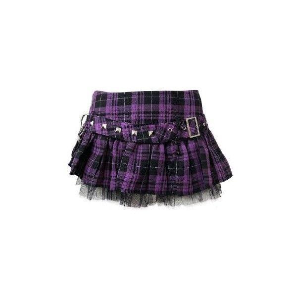 d4ea11d2c Purple HELL BUNNY Micro Mini Jailbait Skirt 8 16 ($28) ❤ liked on Polyvore  featuring skirts, mini skirts, bottoms, saias, purple, …