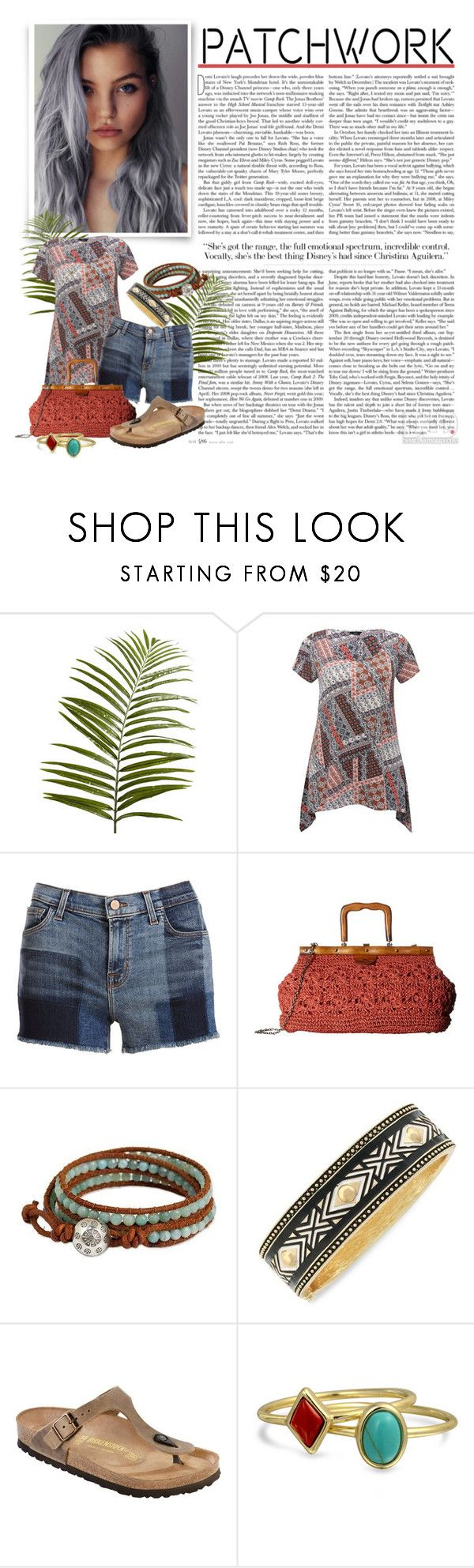 """""""Patchwork"""" by fashion-film-fun ❤ liked on Polyvore featuring Pier 1 Imports, M&Co, J Brand, Patricia Nash, NOVICA, Jessica Simpson, Birkenstock and Bling Jewelry"""