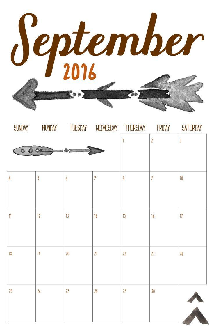 Free Calendar Printable | September 2016 | KeepingItCrafty.com
