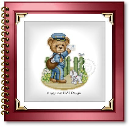 Cross Stitch Babies and Bears by EMS Design. Bears at Work