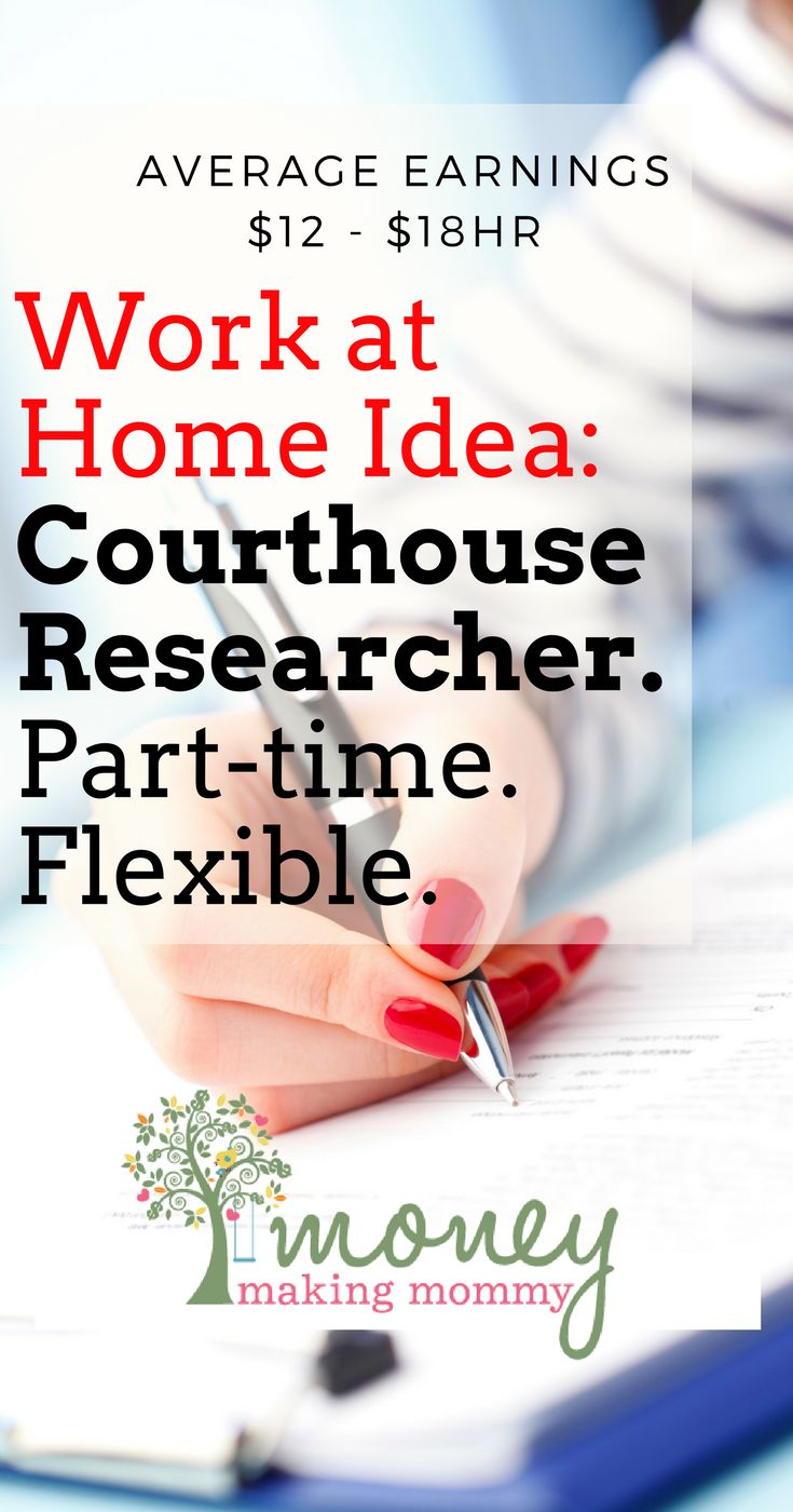 Part-time, flexible job for those wanting to work from home, but still get out of the house too.