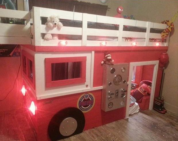 1000 ideas about fire truck beds on pinterest truck bed truck room and beds - Fireman bunk bed ...