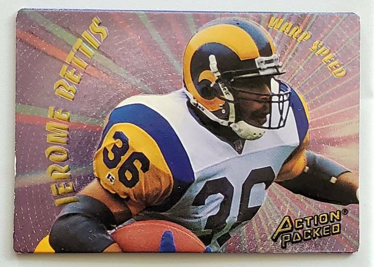 Jerome bettis action packed 1994 nfl sports trading card