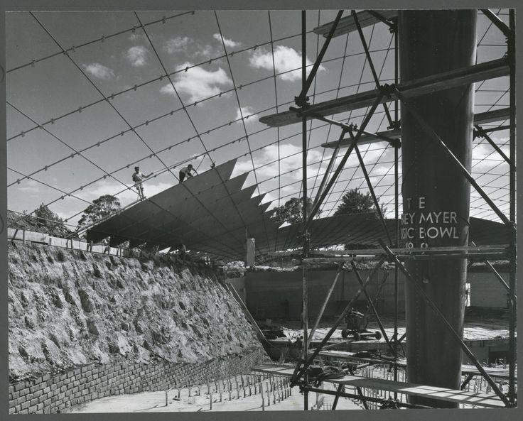 Building the Sidney Myer Music Bowl, Melbourne 1958