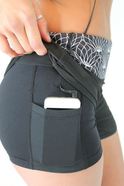 Annadel Shorts - Black Running shorts with pockets... YES please! Only $24 at http://www.senitaathletics.com
