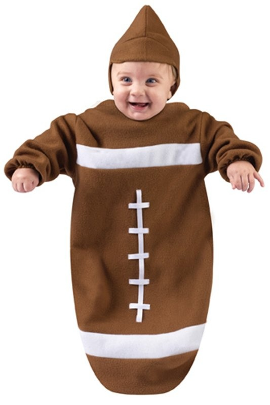 baby football halloween costume newborn baby boys football costume football bunting fits babies up to tall super soft brown football costume for babies - Infant Football Halloween Costume
