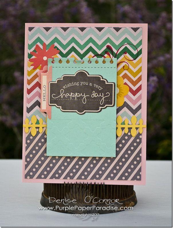 Craftwell Design Team: Denise O'Connor  #americancrafts #eBosser #craftwell #cards #cardideas #chalkboard