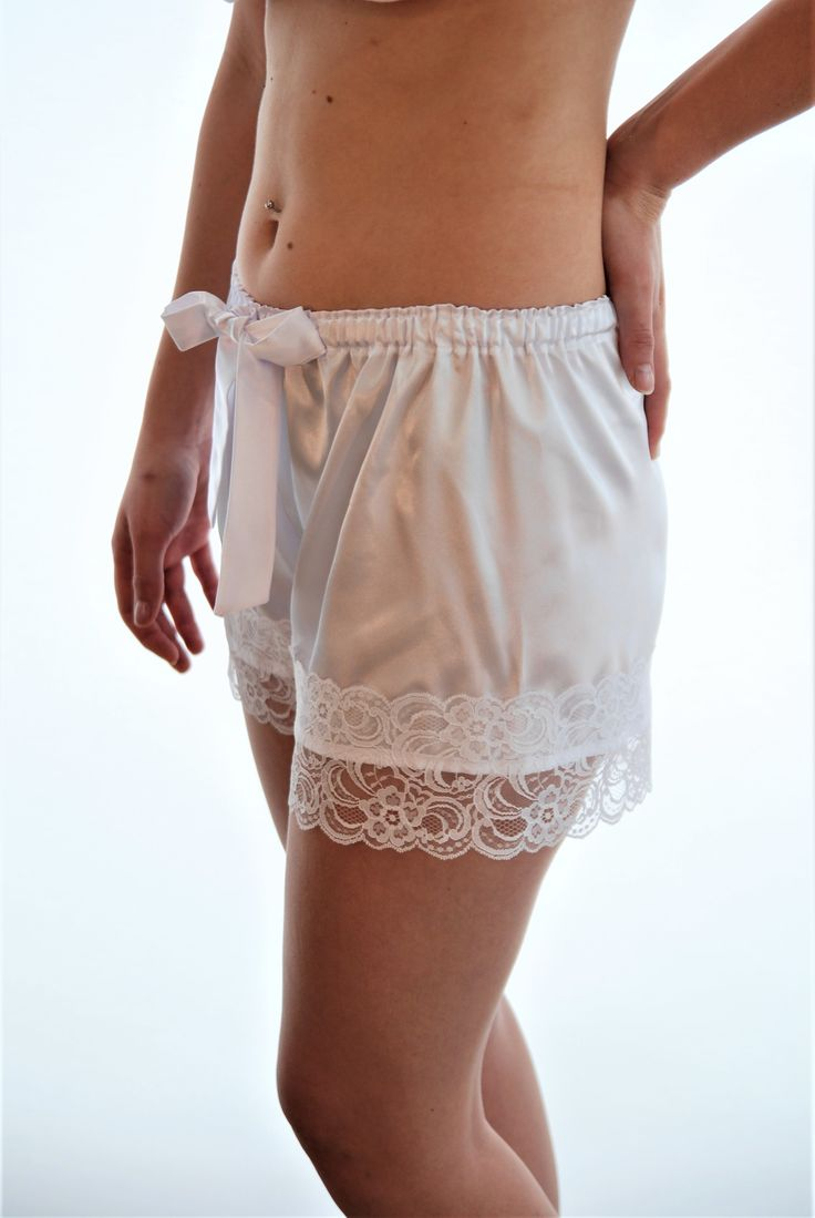 A close up of our French Knickers - 100gsm satin and Raschel lace. part of our Bridal Kits or available in a variety of beautiful colours to suit your Bridal theme, taste and style! www.angiejcollection.com.au