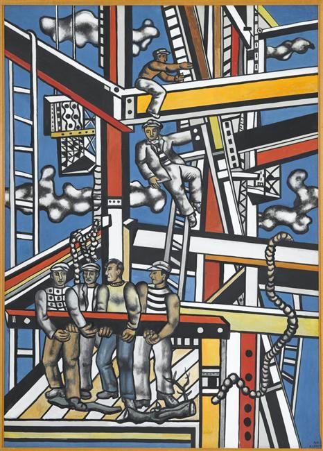 Les constructeurs (état définitif). Fernand Léger, 1950.
