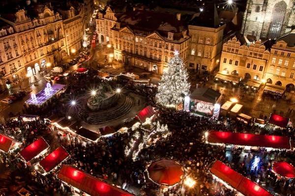 Vánoční trh v Praha .