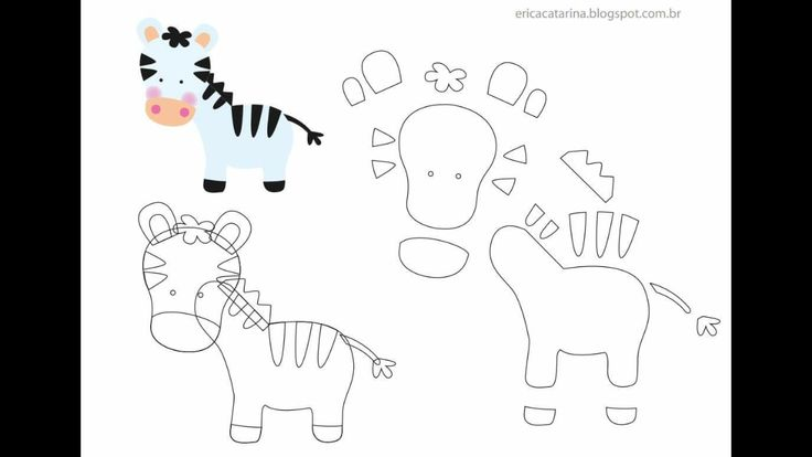 ZEBRA PAPER PIECING (OR FELT) TEMPLATE DIAGRAM