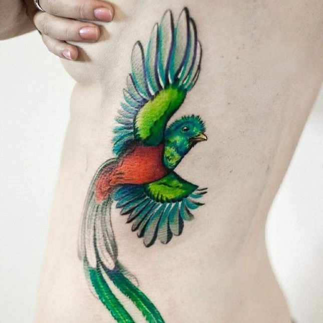 Swooning over this Quetzal tattoo.
