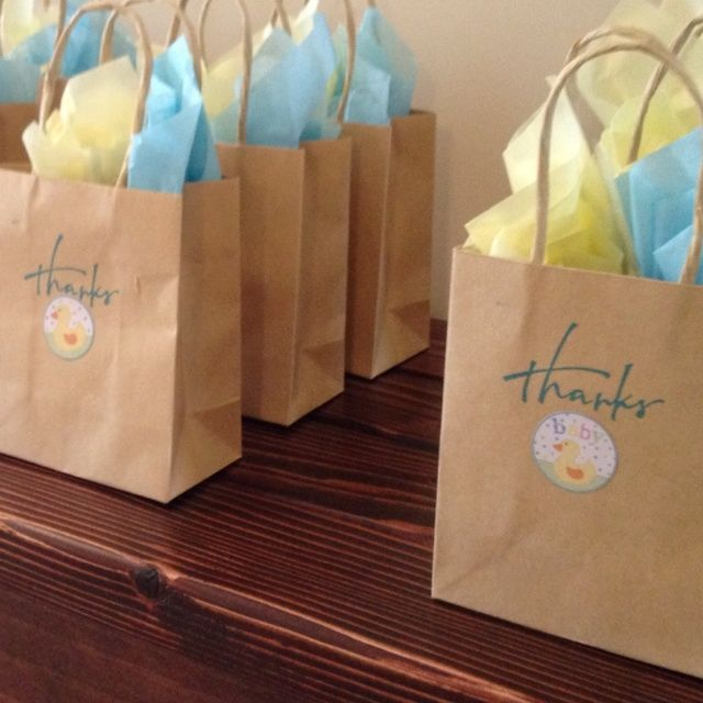 Thank you bags   Baby Shower