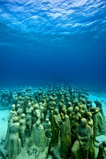 Dive the underwater sculpture museum off the coast of Isla de Mujeres and Cancun, Mexico.