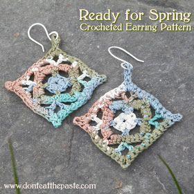 Crocheted Earring Pattern