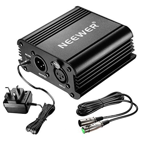 Neewer 1-Channel 48V Phantom Power Supply Black with Adapter and One XLR Audio Cable for Any Condenser Micr No description (Barcode EAN = 0699618412840). http://www.comparestoreprices.co.uk/december-2016-6/neewer-1-channel-48v-phantom-power-supply-black-with-adapter-and-one-xlr-audio-cable-for-any-condenser-micr.asp
