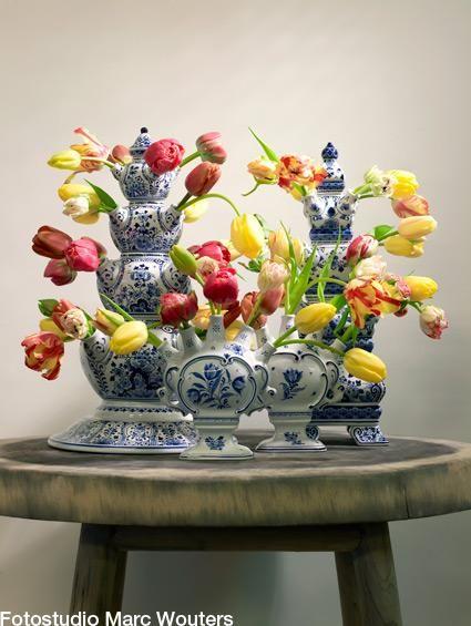 Dutch Tulip Vases...April in Amsterdam loves it!...