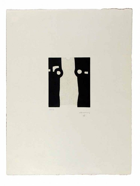 Eduardo Chillida (1924-2002), Homenaje a Balenciaga II, 1988. Etching on Japanese paper. Plate size: 19.5cm H x 16.5cm W. Sheet size: 65cm H x 50cm W. Edition of 50 copies.