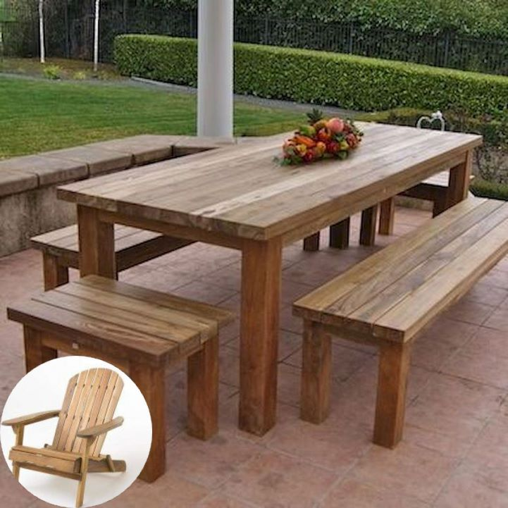 Wood Patio Furniture Colors And Wooden Outdoor Furniture Ideas Patiodesign Backyardideas In 2020 Wood Patio Furniture Teak Patio Furniture Outdoor Furniture Plans